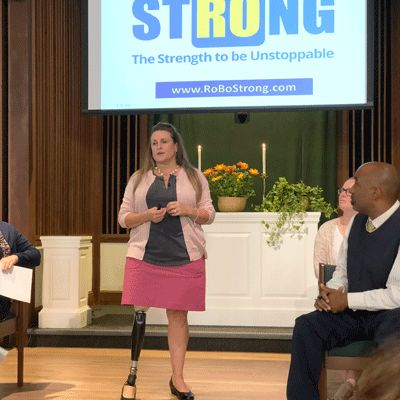 Marathon Bombing Survivor Inspires Students in Chapel